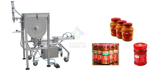 大颗粒豆豉酱灌装机_豆瓣酱灌装机如何操作